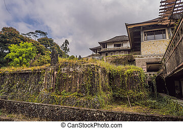 Abandoned and mysterious hotel in Bedugul. Indonesia, Bali ...