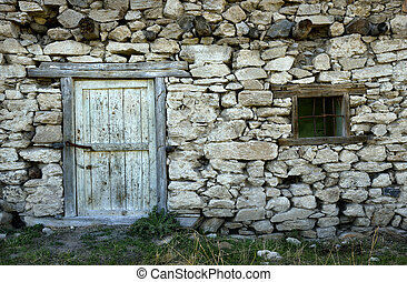 abandoned, appearance, backdrop, background, blister, blistered, board, boarded, break, brick, building, cottage, crack, damage, decay, door, green, metal, metallic, old, paint, peel, rough, rustic, scratch, shabby, shutter, stone, surface, texture, textured, wall, weathered, window, wood, wooden, ...
