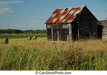 Abandoned Barn - A run down and neglected bard in rural...