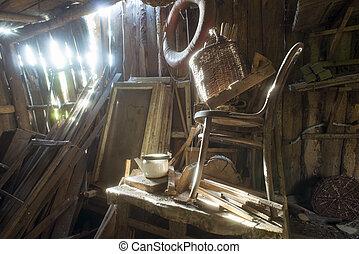 abandoned barn chaos