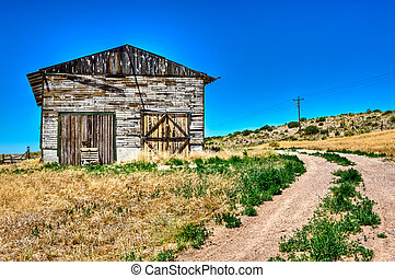 Abandoned barn in Route 66