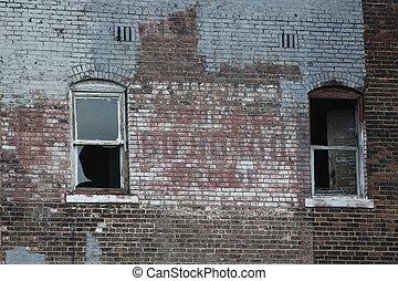 Abandoned Brick Urban Building