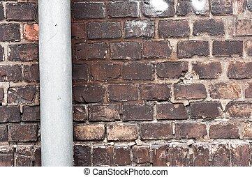 Abandoned brick wall