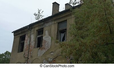 Abandoned Broken House - Abandoned desolated house with...