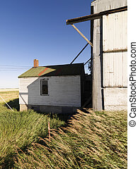 Abandoned structure in rural environment.