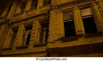Abandoned Building At Night - The abandoned building at...