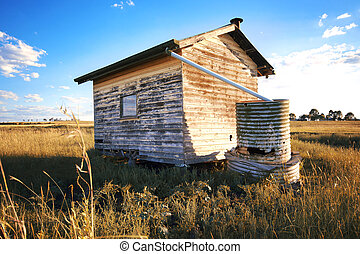 Abandoned building in the outback.