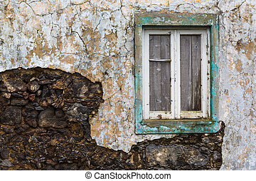 Abandoned building on the northern coast of Sao Miguel island