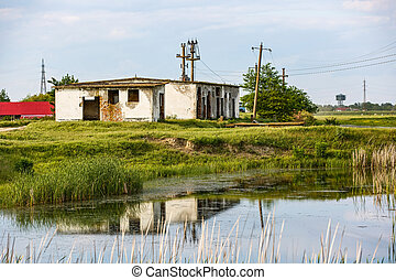 Abandoned building on the