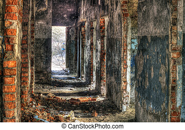 Abandoned building - High Dynamic Range Image of an...