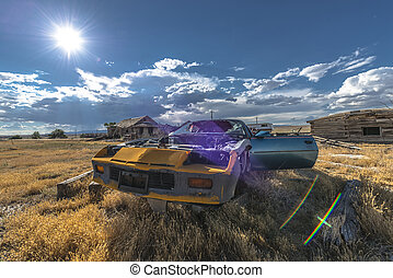 Abandoned Car Ghost Town