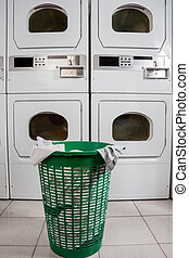 Abandoned Clothes Basket - Abandoned clothes basket in...