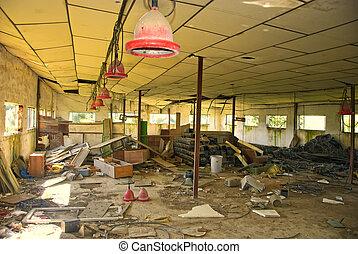 Abandoned empty warehouse