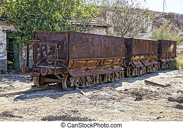 Abandoned facilities freight wagon.