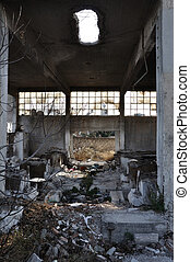 abandoned factory industrial building