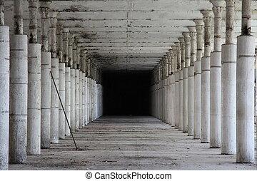 Interior of an abandoned factory in Narva, Estonia