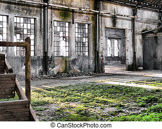 Abandoned factory - Ruins of abandoned factory architecture ...