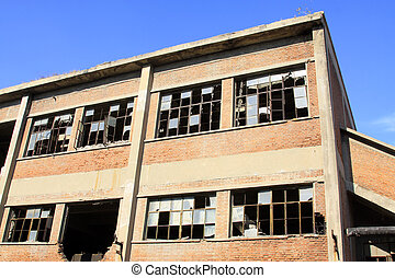 abandoned factory workshop, tangshan city