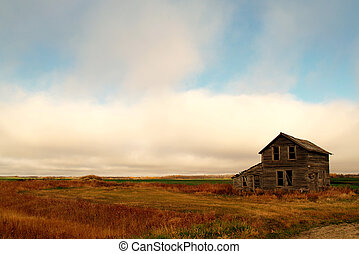 Abandoned Farm house - An abandoned farm house south of the...