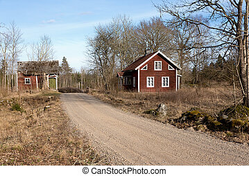 Abandoned farmhouse in Sweden