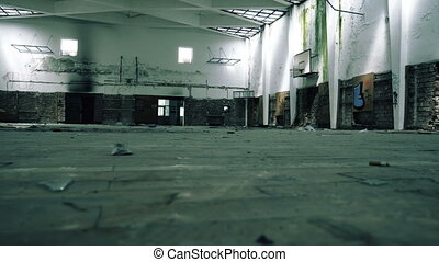 Abandoned Gym Hall In The School