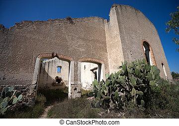 abandoned hacienda building in mexico - abandoned hacienda...