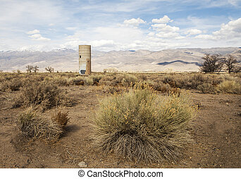 Remains of an old ranch in the high desert of California near Bishop.