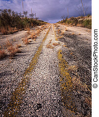 An old highway in West Texas.