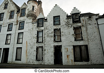 abandoned historic building