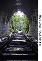 Abandoned historic railway tunnel