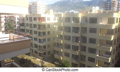 abandoned hotels in Turkey,broken Windows,old buildings -...