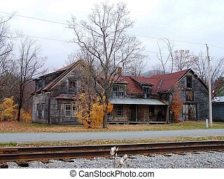Abandoned house.