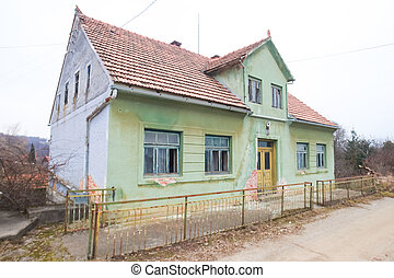 Abandoned house exterior