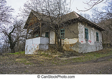 Abandoned house hill
