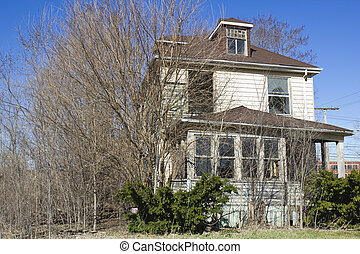 Abandoned house in Gary, Indiana.