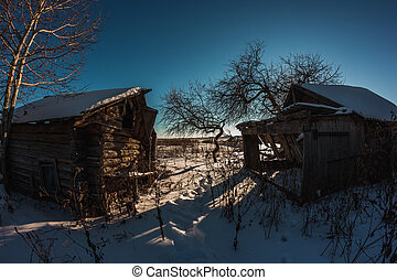 Abandoned house in Russian village