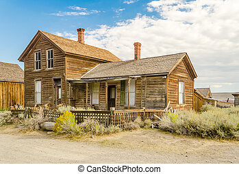 Abandoned House in the Gold Mining Ghost Town of Bodie, California