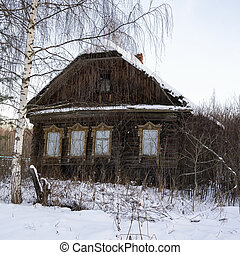 abandoned house in the village