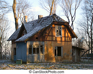 Abandoned house - Old rural damaged house in romanesque ...