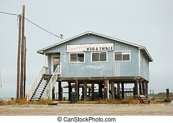 Abandoned House on the coast in Corpus Christi, Texas