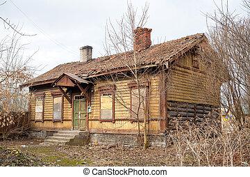 Abandoned house - Old abandoned house. Tallinn, Estonia