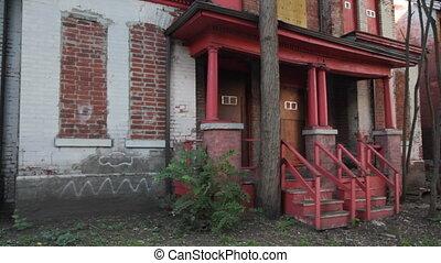 Abandoned house. Two shots.