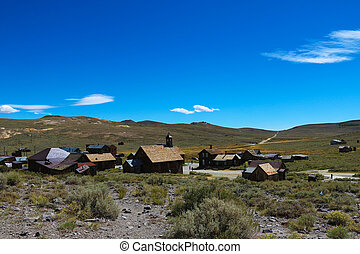 Abandoned houses in the desert after the gold rush, Bodie, Ghost Town, California