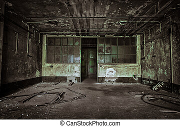abandoned industrial building interior