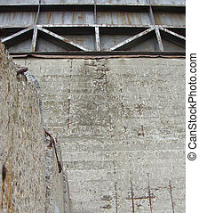 abandoned industrial building with rusty metal and concrete