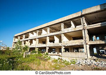 Abandoned industrial buildings
