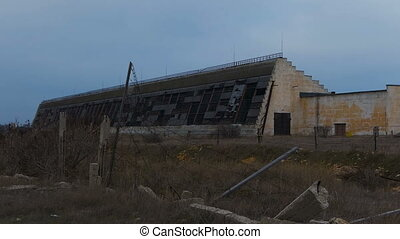 Abandoned Military Object - Abandoned military hangars and...