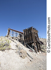 an old abandoned mine