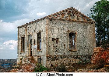 Abandoned mine workshops in Spain