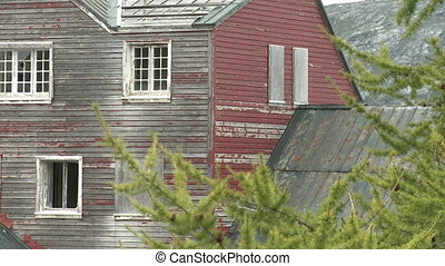 Abandoned mining town in Greenland